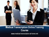 medical transcription courses